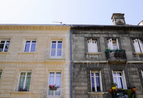 Fassadenreinigung vorher nachher